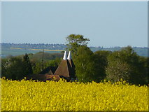 TQ9258 : Church Oast seen from Down Court Road by Colin Park