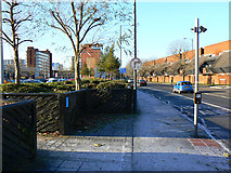 SU1584 : West along Fleming Way, Swindon by Brian Robert Marshall