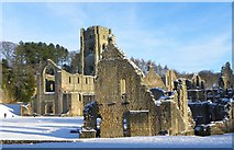 SE2768 : Fountains Abbey in the snow by Gordon Hatton