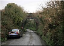 SX0682 : Former North Cornwall Railway bridge by roger geach