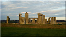 SU1242 : Stonehenge - changing colours (1) by Peter Trimming