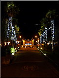 SZ0891 : Bournemouth: approaching The Square on a winter's night by Chris Downer