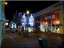 SZ0891 : Bournemouth: Christmas lights in Commercial Road by Chris Downer