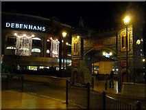 SZ0891 : Bournemouth: Christmas lights and archway to The Square by Chris Downer