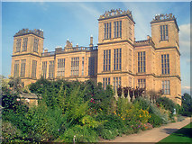 SK4663 : Hardwick Hall from the South Court Garden by Trevor Rickard