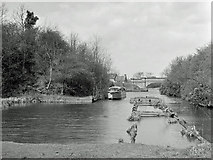 SP6989 : Foot of Foxton inclined plane, 1960 by Robin Webster