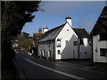 SU9948 : Looking down St Catherine's Hill towards Ye Olde Ship Inn by Basher Eyre