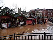SZ0891 : Bournemouth: Christmas market stalls in The Square by Chris Downer