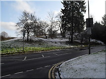 SU9948 : Lingering snow on the nursery slopes of St Catherine's Hill by Basher Eyre