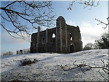 SU9948 : Approaching the ruined chapel on St Catherine's Hill by Basher Eyre