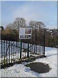 SU9948 : Information board on St Catherine's Hill by Basher Eyre