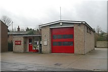 SK8975 : Saxilby fire station by Kevin Hale