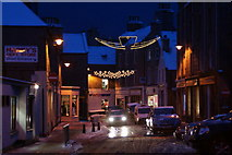 HU4741 : Commercial Street, Lerwick, at Christmas by Mike Pennington