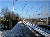SE1537 : Shipley Station Platform 3 on Christmas Day by Stephen Armstrong