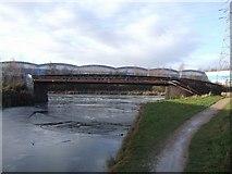 SO9394 : Bradley Arm Canal - Deepfields Junction Footbridge by John M