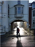 NZ3572 : Back lane off Promenade, Whitley Bay by Andrew Curtis