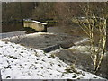 NY6761 : Weir on the River South Tyne at Featherstone by Les Hull