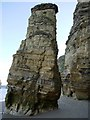 NZ3965 : 'Lot's Wife' sea-stack, Marsden Bay by Andrew Curtis