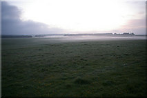 SU1242 : Early morning mist at Stonehenge by Roger Gittins