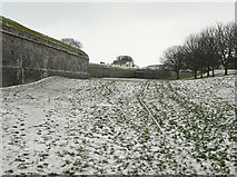 NT9953 : Northern moat by Alan Murray-Rust