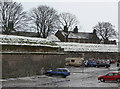 NT9953 : Car park in the moat by Alan Murray-Rust