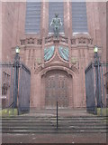 SJ3589 : North entrance to the Anglican Cathedral by John S Turner