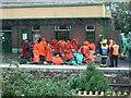 SX5994 : Umpalumpas invade Okehampton Station by Michael Westley