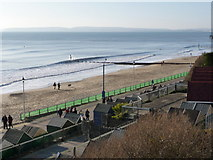 SZ1191 : Boscombe: view along the beach from Manor Zig-Zag by Chris Downer