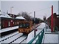 NZ2566 : Train at West Jesmond Metro Station by Philip Barker