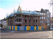 TQ2081 : Building construction in Horn Lane, Acton, W3 (2) by Andrew Hackney