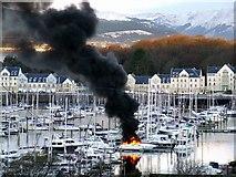 NS2072 : Boat fire at Kip Marina by Thomas Nugent