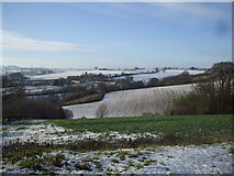 SO5620 : View from the A40 near Pencraig by John Lord