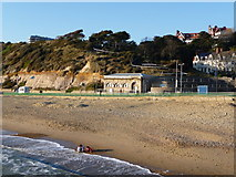 SZ1191 : Boscombe: toilets and East Cliff path by Chris Downer