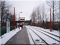 NZ2168 : Platform on north-bound side of Kingston Park Metro station by Philip Barker
