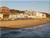 SZ1191 : Boscombe: view east from the pier by Chris Downer