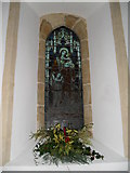 SU8518 : Stained glass window on the south wall at St Mary, Bepton (2) by Basher Eyre