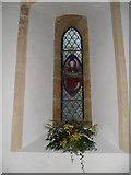 SU8518 : Stained glass window on the south wall at St Mary, Bepton (1) by Basher Eyre