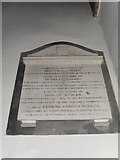 SU8518 : Memorial on the west wall at St Mary, Bepton (1) by Basher Eyre