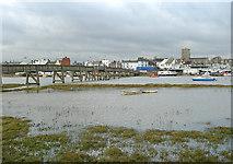 TQ2104 : Footbridge across the River Adur, Shoreham, West Sussex by Roger  Kidd