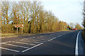 SP5461 : The A425 approaching the entrance to Staverton Park hotel by Andy F
