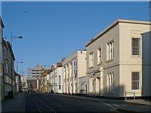ST3187 : Lower Dock Street, Newport by Robin Drayton