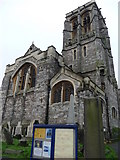 SX9193 : Exeter : St David's Church by Lewis Clarke