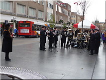 SX9292 : Exeter : High Street & Salvation Army Band by Lewis Clarke