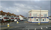 TQ1602 : The Half Brick (closed) and Ham Road, Worthing, West Sussex by Roger  Kidd