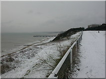 SZ1191 : Boscombe Overcliff, snow by Mike Faherty