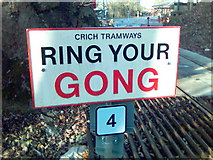 SK3455 : Ring Your Gong at Crich Tramway Museum, Crich, Derbyshire by Eamon Curry