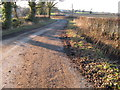 TQ1329 : Downs Link path approaching cottages on the Itchingfield road by Dave Spicer