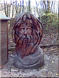 SK3455 : Sculpture at Crich Tramway Museum, Derbyshire by Eamon Curry