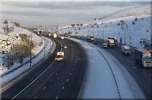 SE0716 : M62 Motorway at Wholestone Moor Cut by Richard Kay