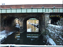 SK3871 : Rail bridge over Chesterfield Canal by Peter Barr